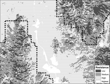 map of habitat resistance